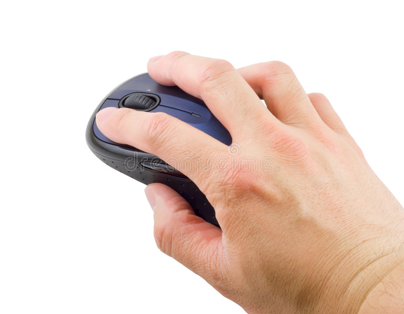 Hand on Mouse stock image