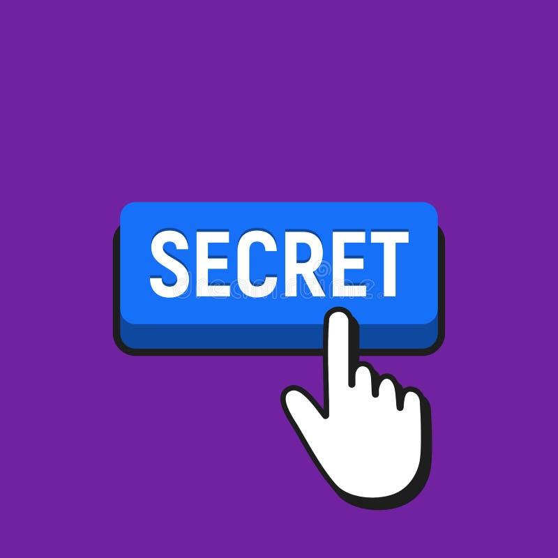 Hand mouse cursor clicks the secret button stock vector download hand mouse cursor clicks the secret button stock vector illustration of action maxwellsz