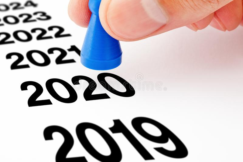 New Year 2020 Beginning Pawn Concept royalty free stock images