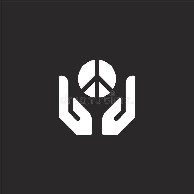 hand- och gestsymbol Fylld hand- och gestsymbol för websitedesignen och mobilen, apputveckling hand- och gestsymbol royaltyfri illustrationer