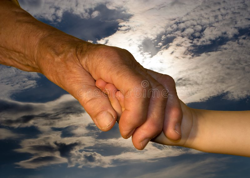Download Hand Od Grandmother And Grandchild Stock Photo - Image of detail, juvenility: 7296460
