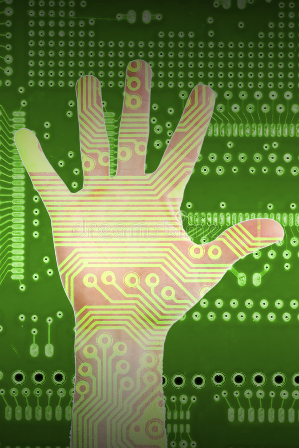Free Hand Of Technology Stock Photography - 4670102