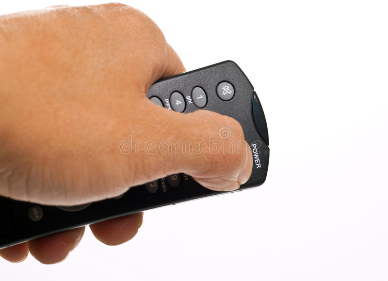 Download Hand Off The Button Pressing Stock Image - Image: 25216821