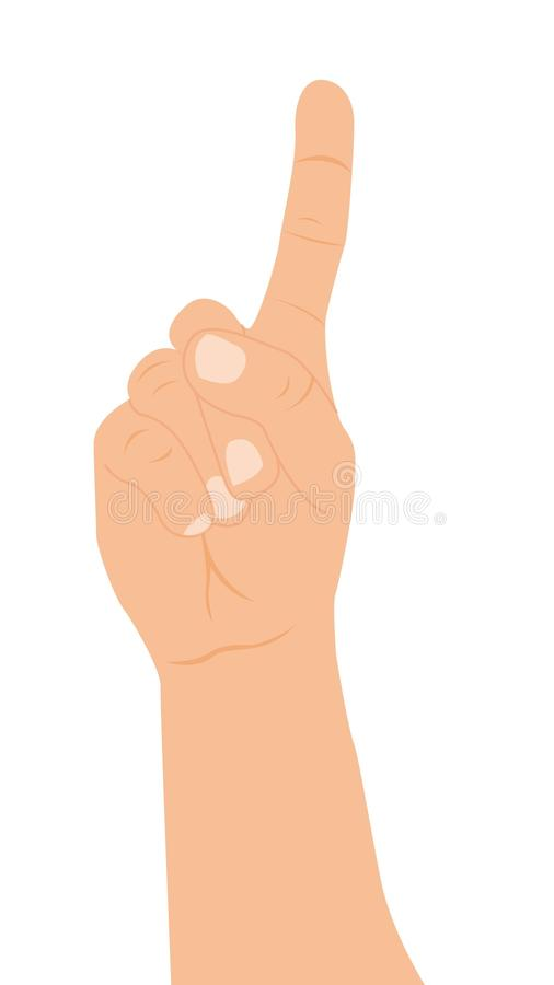 Download Hand with one finger up stock vector. Illustration of cursor - 22333966