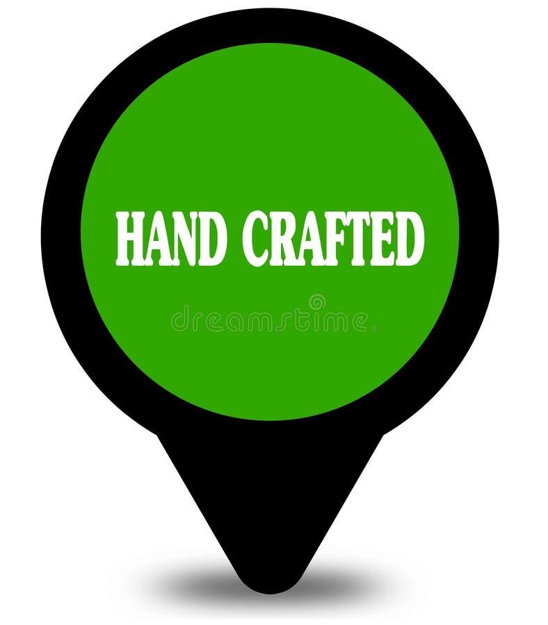 HAND op groene grafische die plaatswijzer wordt BEWERKT stock illustratie