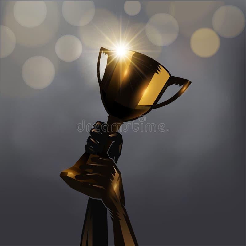 Hand op trofee vector illustratie