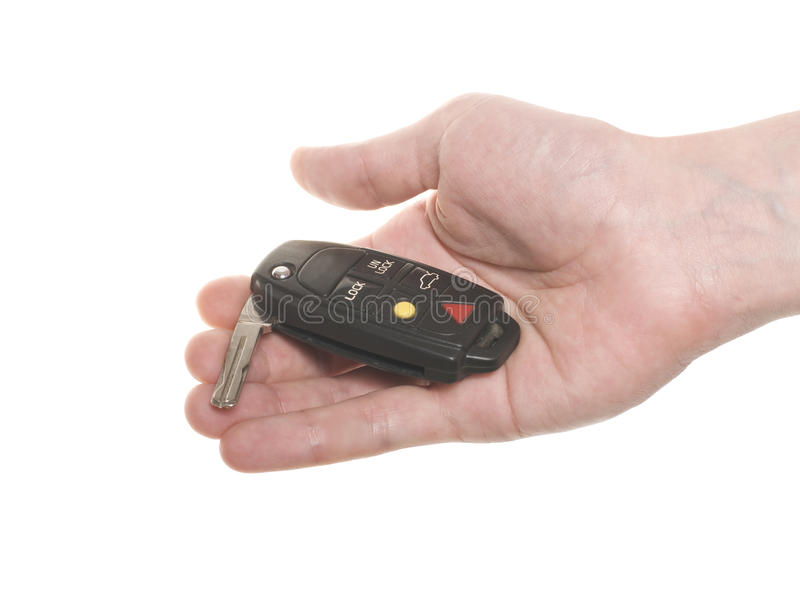 Download Hand With Open Car's Key Stock Photography - Image: 15191532