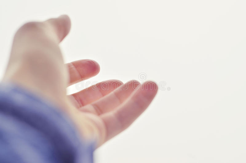 hand outstretched to the sky royalty free stock image