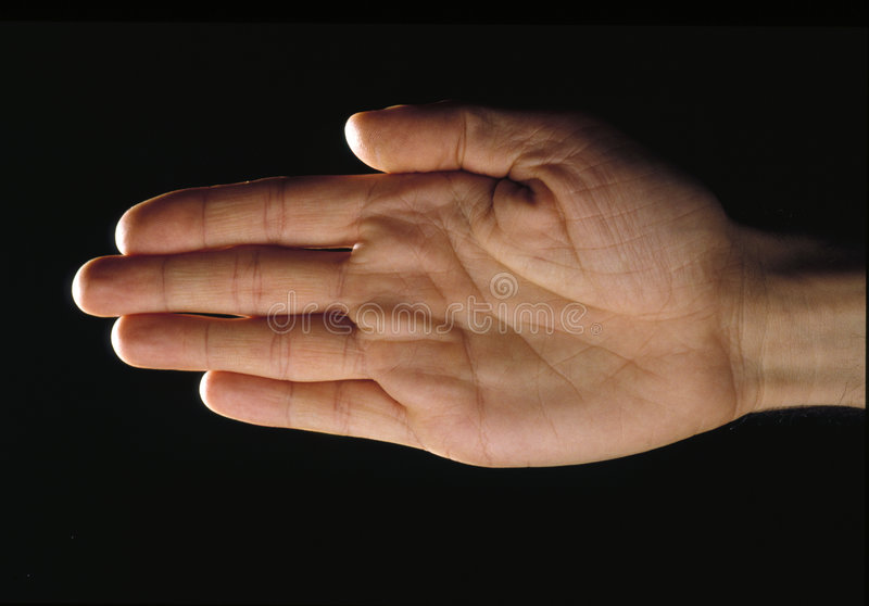 Download Hand over black-palm stock image. Image of thumb, stress - 461253