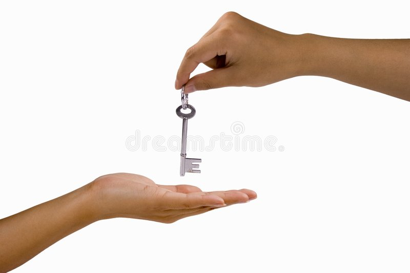 Hand Over the Key royalty free stock photography