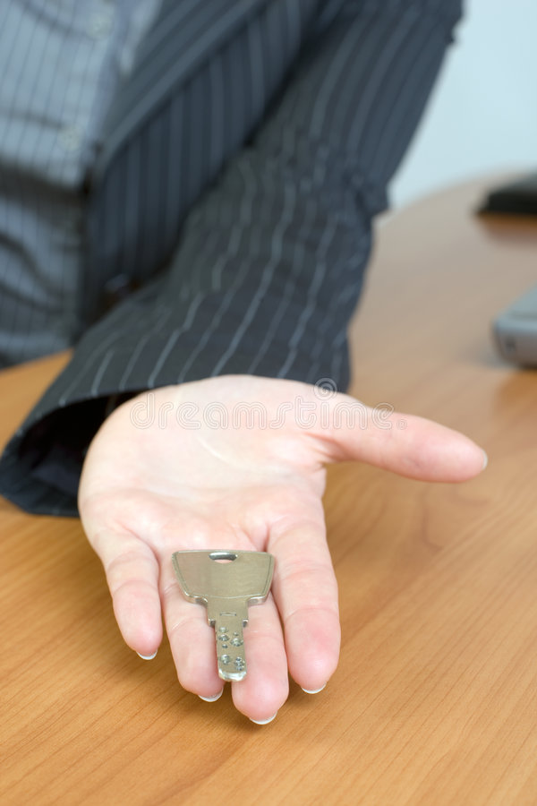 Hand over keys stock images