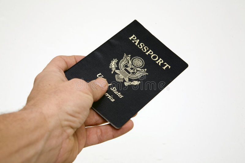 Hand over passport royalty free stock photography