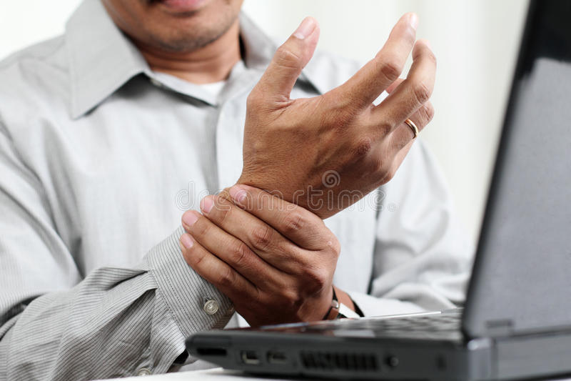 Hand Pain royalty free stock photos