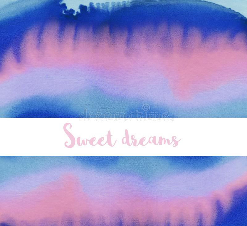 Hand paint abstract background. Vivid dripping paint. Pink, blue and purple colored vector illustration