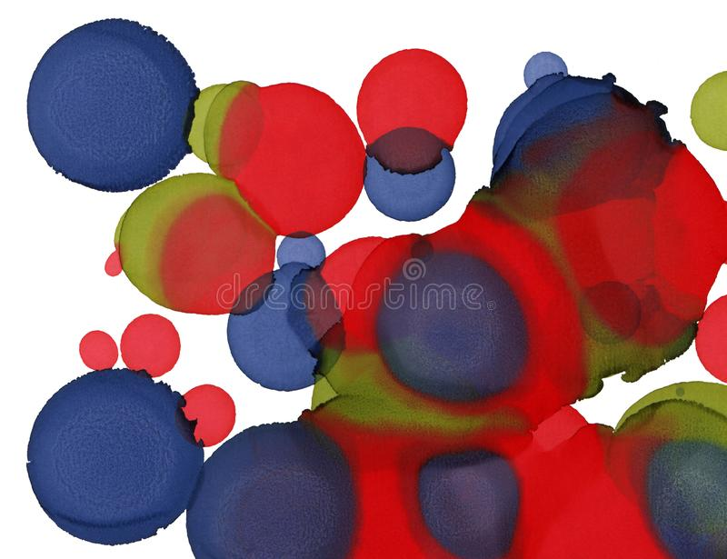 Hand paint texture. Abstract circles shapes background. Alcohol abstract painting. Modern contemporary art. Hand paint texture. Abstract circles shapes stock illustration