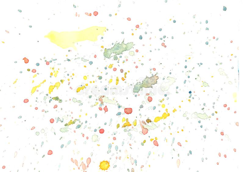 Hand painted abstract watercolor background. royalty free illustration