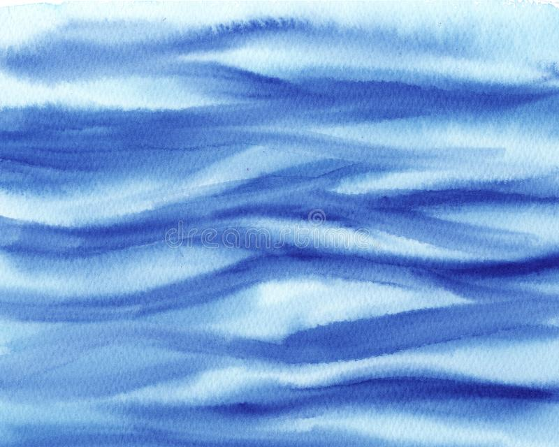 Abstract Watercolor Wet turquoise and blue Background. Watercolor wash. Abstract painting. texture of sea wave. Hand painted abstract Watercolor Wet turquoise stock illustration