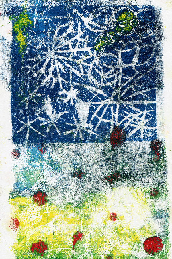 Hand painted acrylic arts background stock illustration
