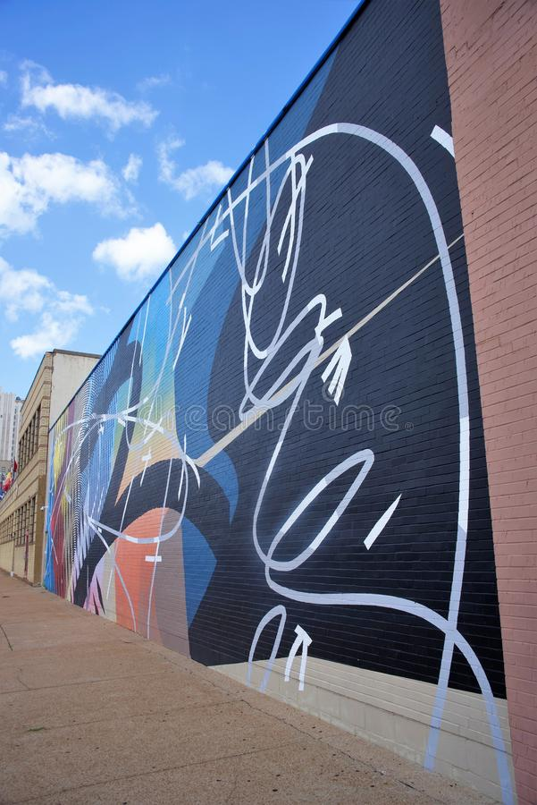 Mural Painting by an Unknown Artist, St. Louis, Missouri stock photography