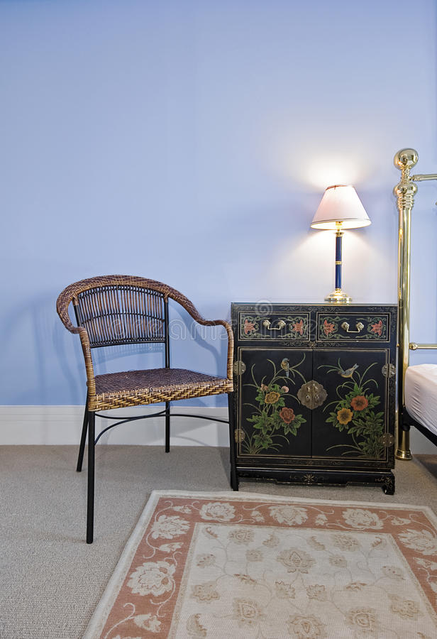 Hand painted bedside table stock images
