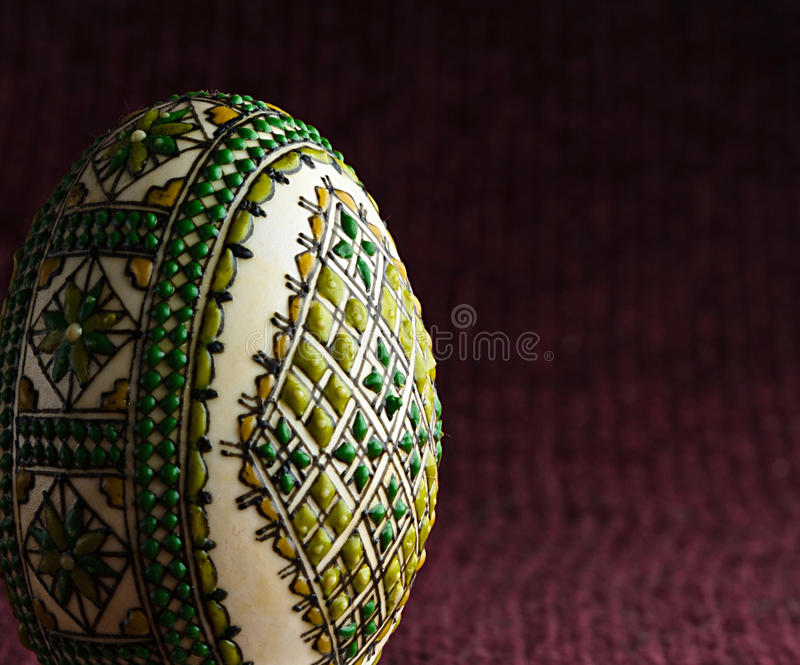 Hand painted easter egg - close-up royalty free stock image