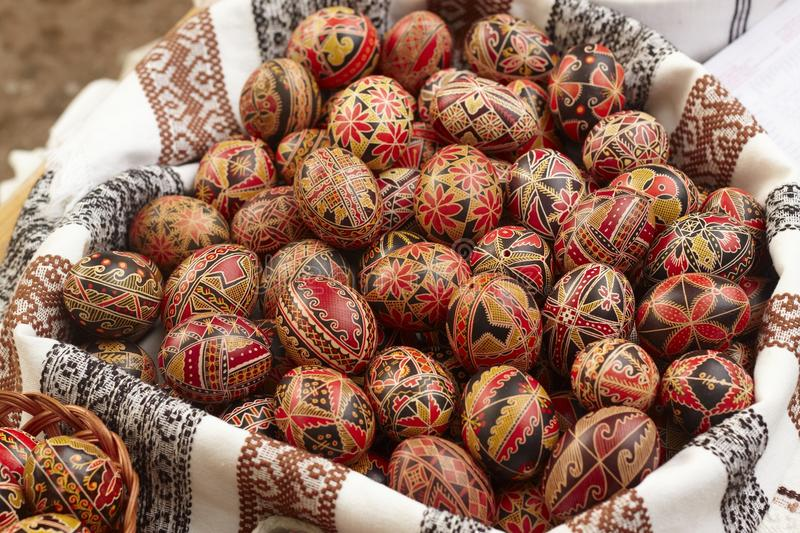 Download Hand painted Easter eggs stock image. Image of relic - 12891339