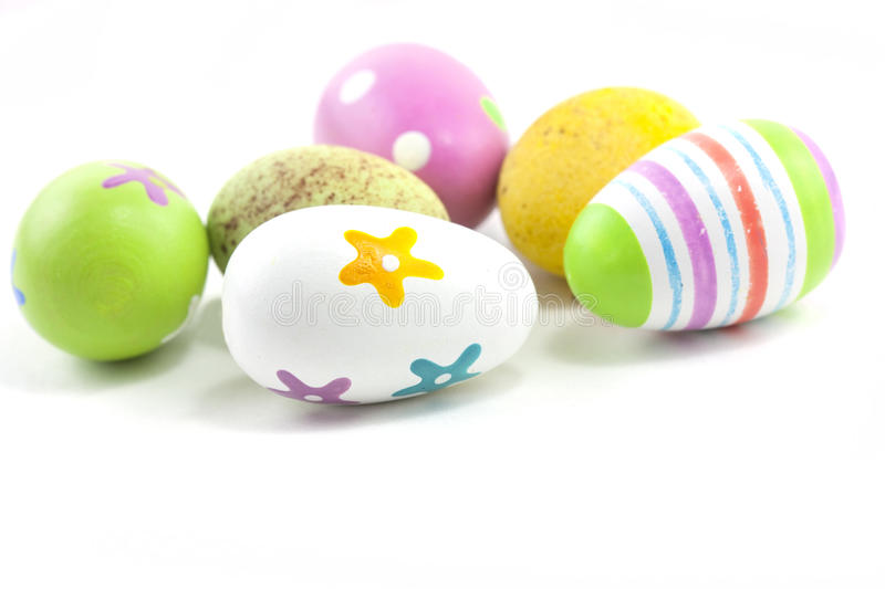 Hand painted easter eggs royalty free stock photos