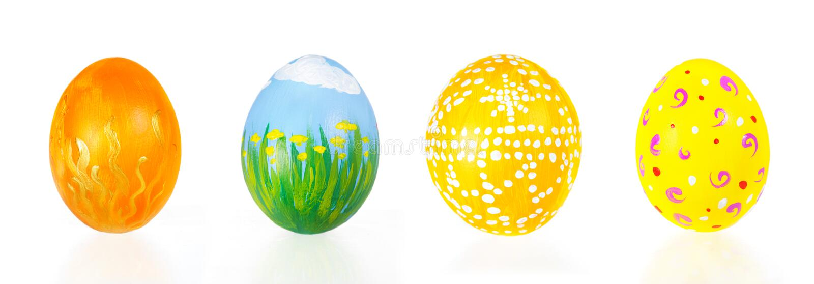 Download Hand painted Easter eggs stock image. Image of easter - 23987235