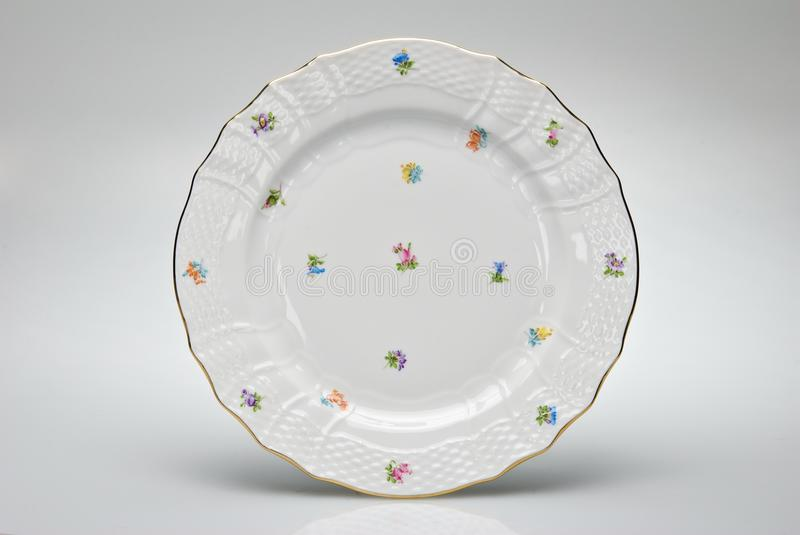 Hand-painted empty dinner plate
