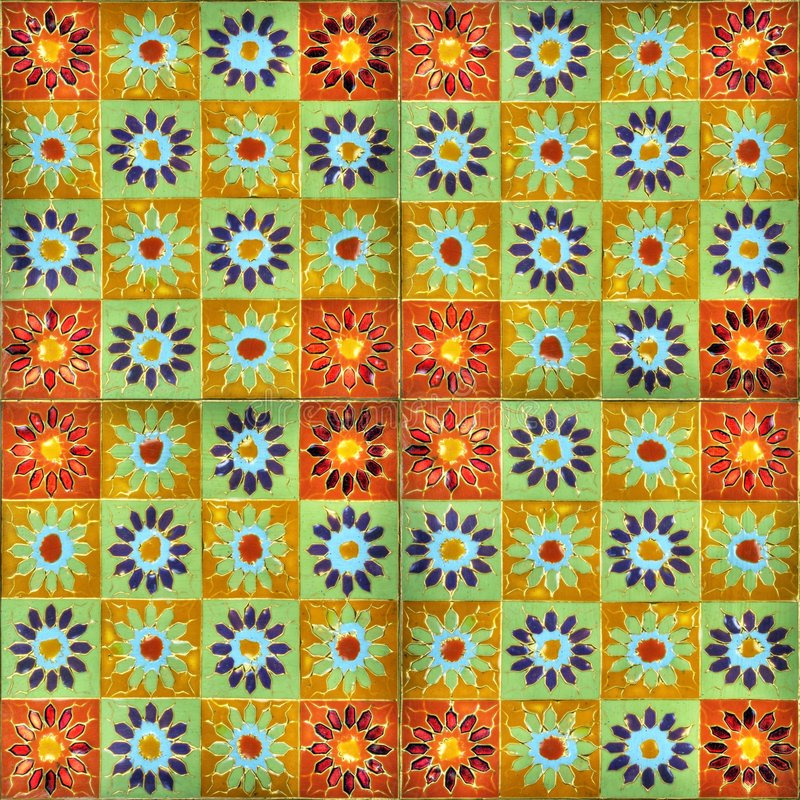 Download Hand-painted enamel tiles stock illustration. Image of mosaic - 4489054