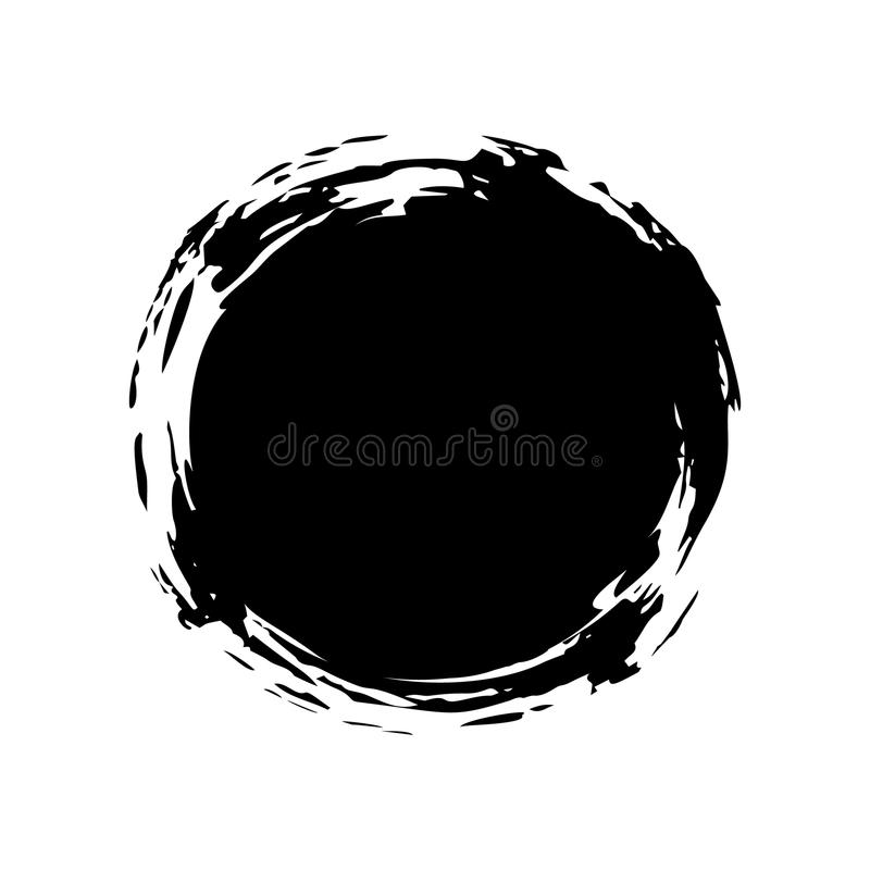 Hand painted ink blob. royalty free illustration