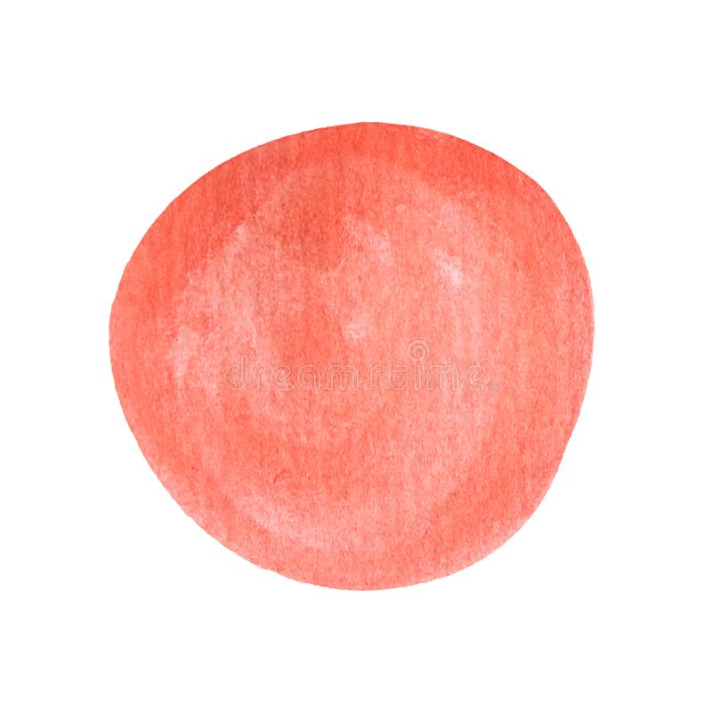 Hand painted ink blob. Hand drawn grunge circle. Graphic design element. Watercolor round spot. Vector illustration royalty free stock photography