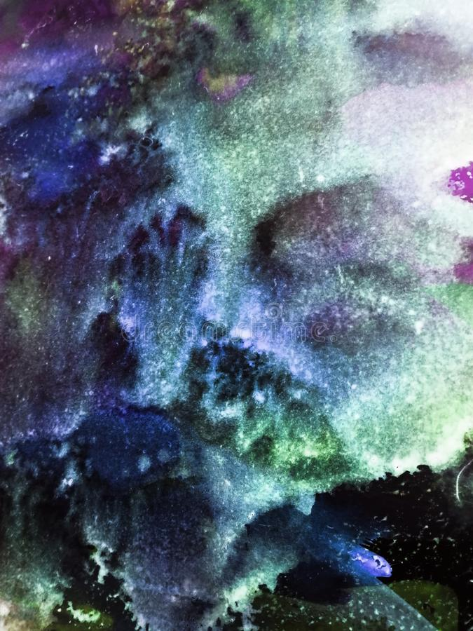 Hand painted marble, space texture for posters, cards, invitations, banners, wallpapers. Acrylic paints. Creative artistic design stock image