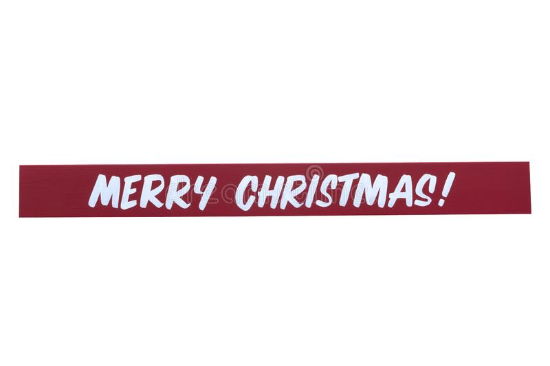 Hand painted Merry Christmas sign stock photo