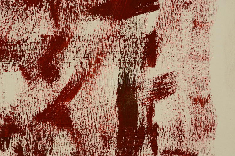 Hand painted multi-layered dark red background.  stock photography