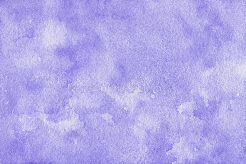 Hand painted purple watercolor background. royalty free illustration