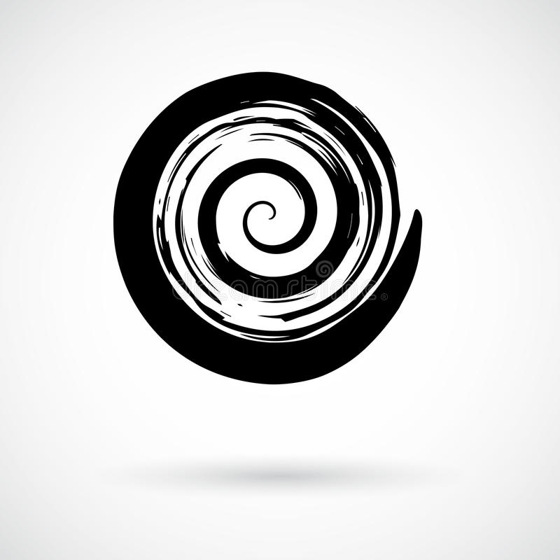 Hand painted swirl symbol vector illustration