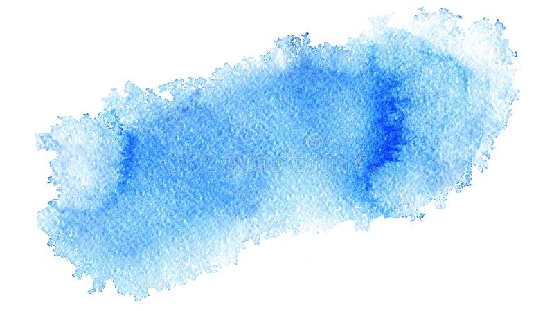 Hand painted watercolor abstract soft light blue web banner background on textured paper stock illustration