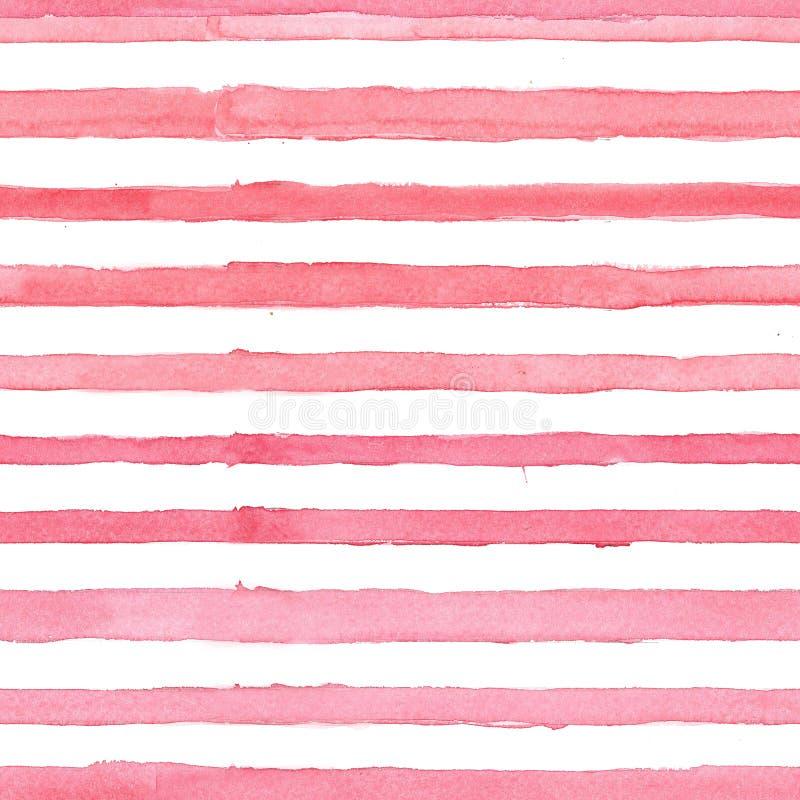 Watercolor pattern seamless red streaks stock illustration
