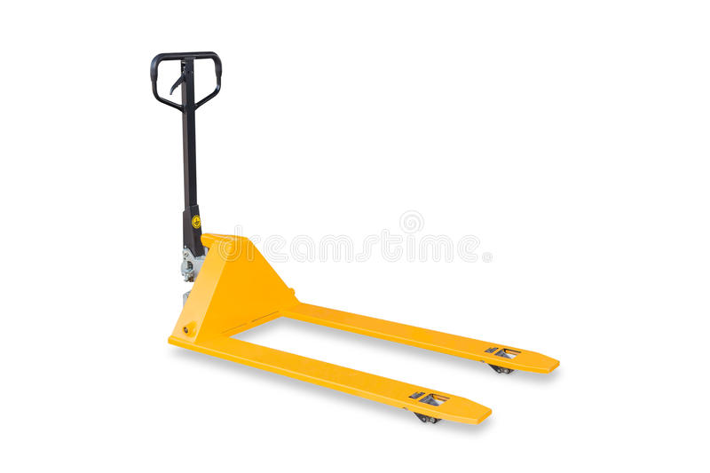 Hand pallet truck royalty free stock photography