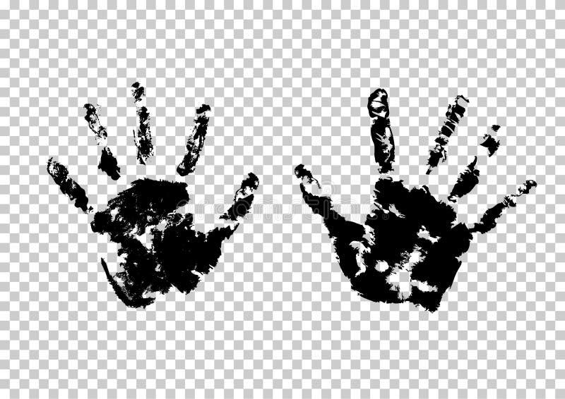 Hand palm print royalty free illustration