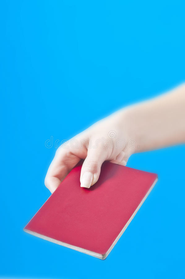 Download Hand with passport stock photo. Image of flyer, isolated - 12729130