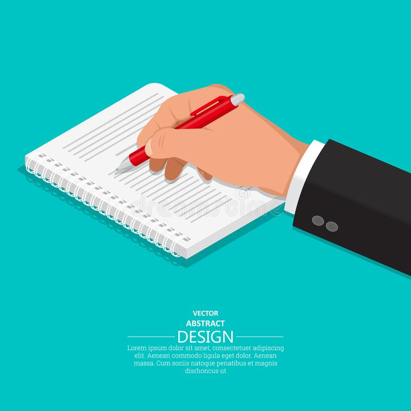 The hand with vector illustration