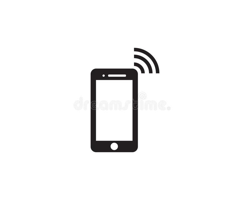 Hand Phone icon Template vector vector illustration
