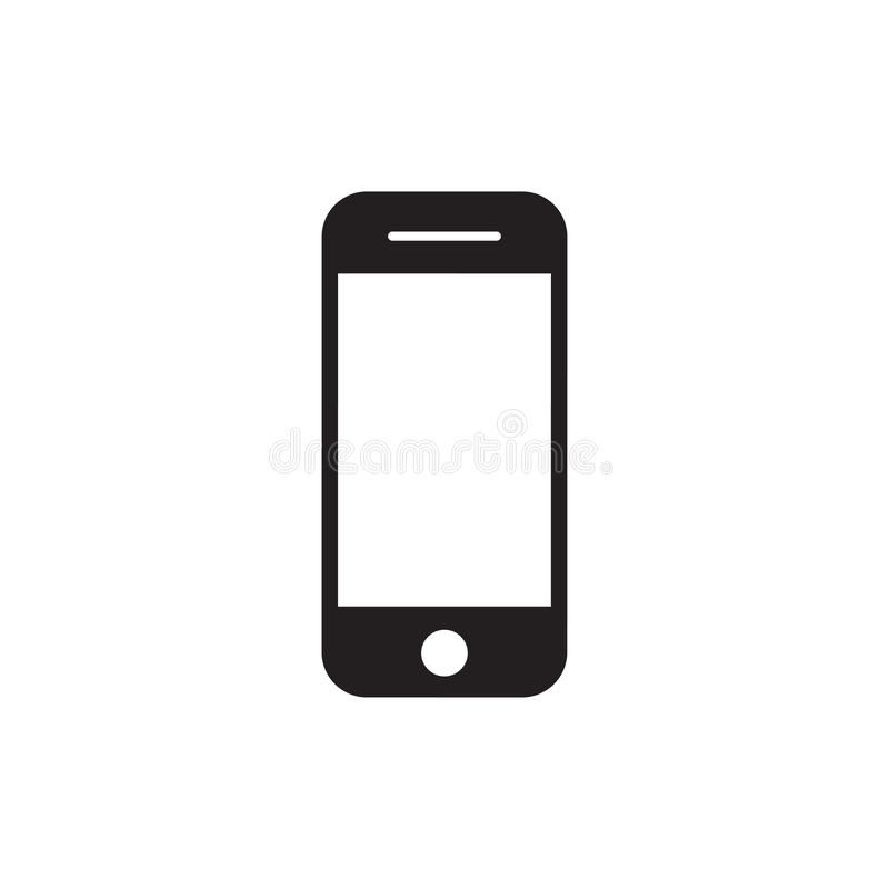 Hand phone icon vector. mobile phone smartphone device gadget in iphone style on the white background vector illustration