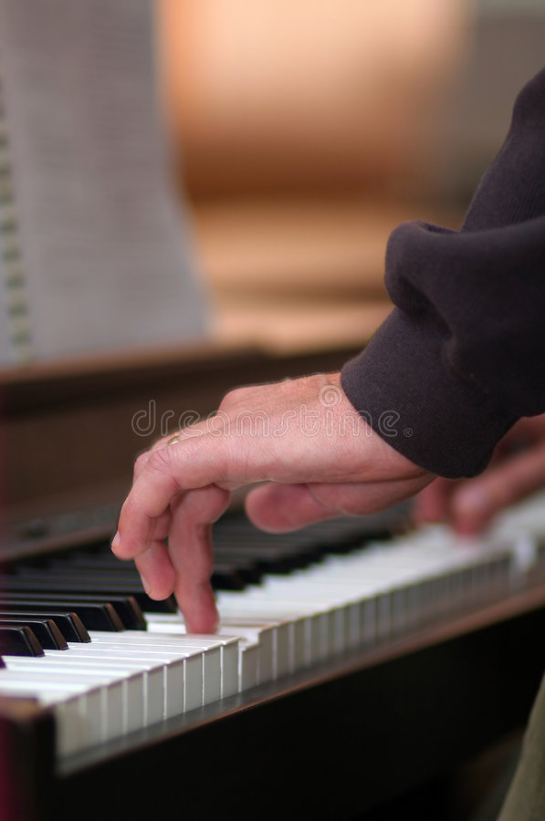 Free Hand Playing Piano Royalty Free Stock Photos - 1796848