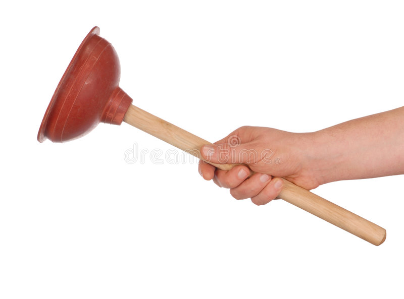 Hand with Plunger stock image