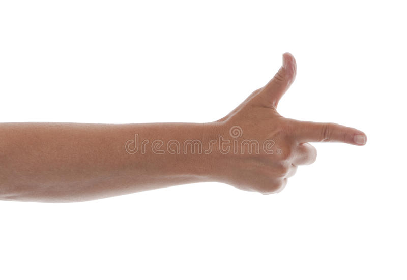 Download Hand - Pointing finger stock image. Image of nail, point - 11326909