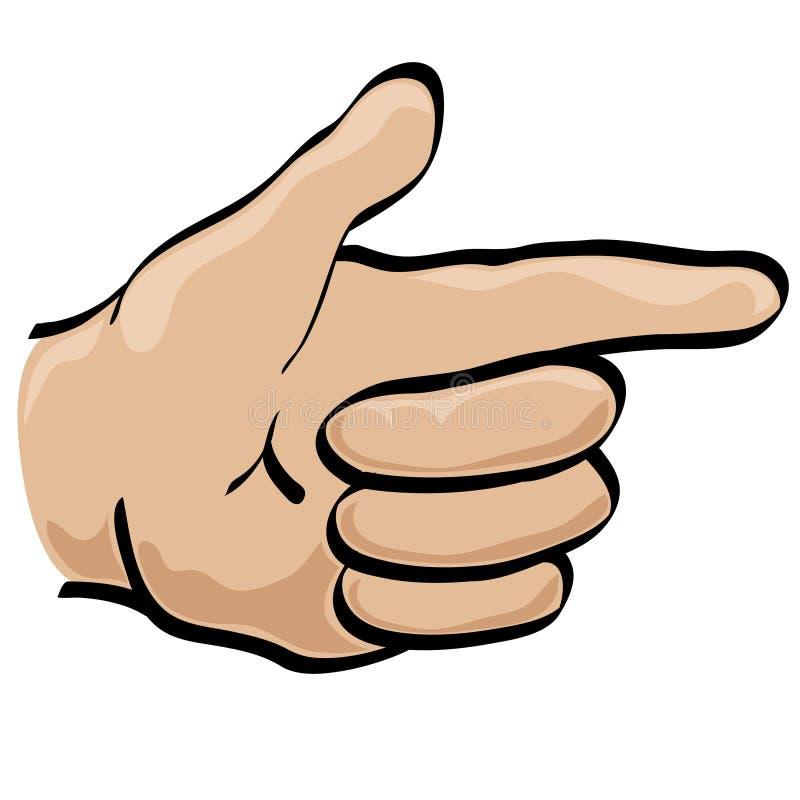 Hand Pointing vector illustration