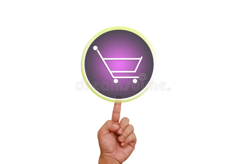 Download Hand Pointing On Supermarket Card Button Stock Illustration - Image: 23853498